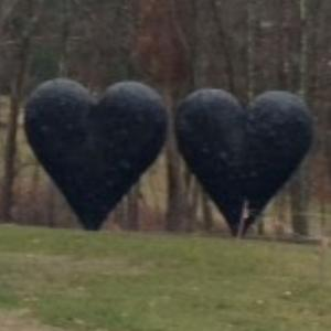 'Two Big Black Hearts' by Jim Dine (StreetView)