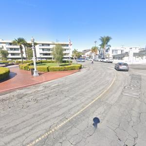 "Dead bicyclist crime scene (""Dexter"") (StreetView)"