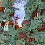 Burning field, in Cuba