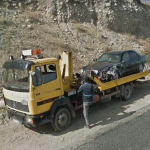 Car Accident in Kirghizistan (StreetView)
