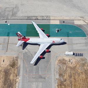 """Cosmic Girl"" B747-400 (Virgin Orbit launch platform) (Google Maps)"