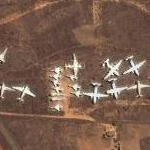 Airplane Cemetery at Ivato Airport (Google Maps)