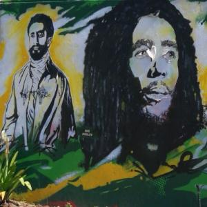 Haile Selassie and Bob Marley (StreetView)