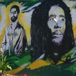 Haile Selassie and Bob Marley