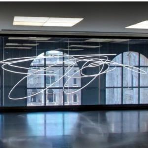 'Struttura al Neon per la IX Triennale di Milano' by Lucio Fontana (StreetView)