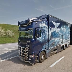 Arctic Griffin Scania showtruck (StreetView)