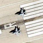 F-18s on Takeoff Roll (Google Maps)