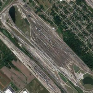 Gateway Yard - Alton and Southern Railway (Google Maps)