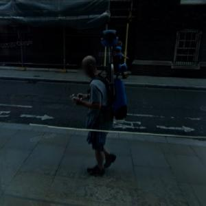Google maps backpack reflection (StreetView)