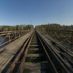 Pilchowickie Lake underspanned suspension bridge (StreetView)