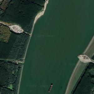 Brăila Bridge under construction (Google Maps)