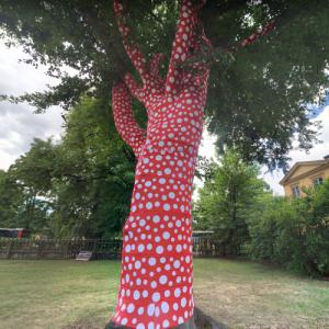 'Ascension of Polka Dots on the Trees' by Yayoi Kusama (StreetView)