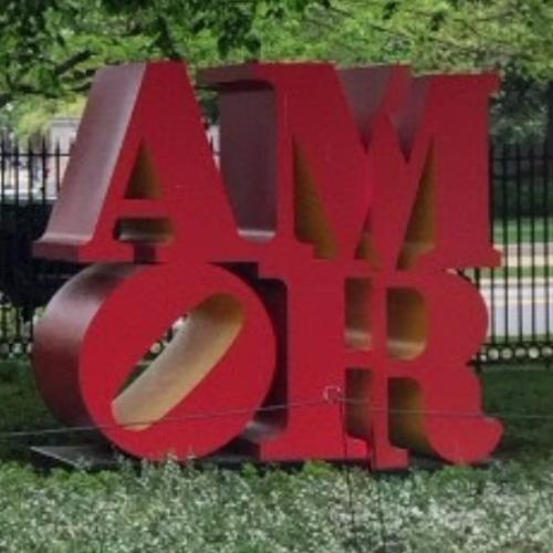 'AMOR' By Robert Indiana In Washington, DC (Google Maps) (#2