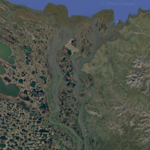 Mouth of the Kolyma (Google Maps)