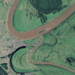 Mouth of the Ishim (Google Maps)