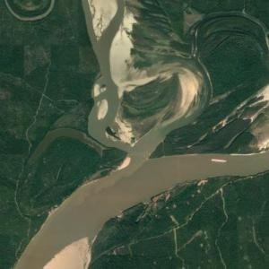 Mouth of the Arkansas River (Google Maps)