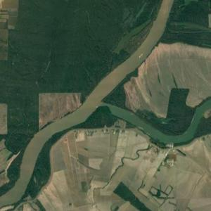 Mouth of the Red River of the South (Google Maps)