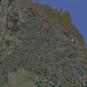 Mouth of the Indigirka (Google Maps)