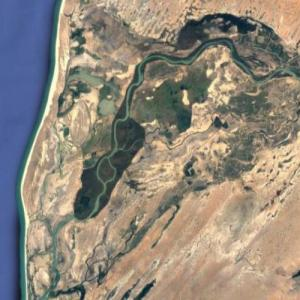 Mouth of the Senegal River (Google Maps)