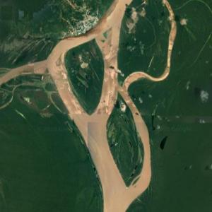 Mouth of the Putumayo River (Google Maps)