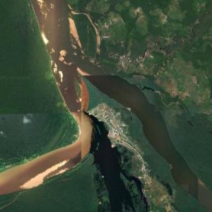 Mouth of the Guaviare River (Google Maps)
