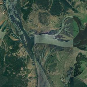 Mouth of the Vyatka (Google Maps)