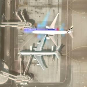 In Flight over Airport (Google Maps)