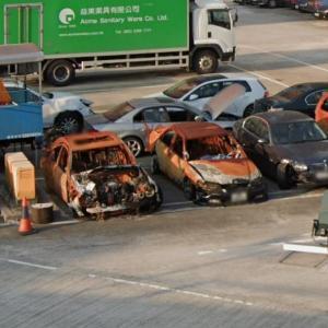 Burned cars (StreetView)