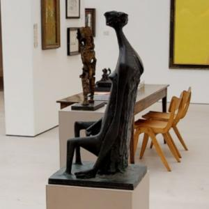 'Seated Woman with Square Head' by Kenneth Armitage (StreetView)