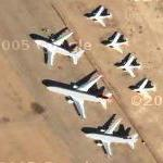 Mojave Airport Bone Yard (Google Maps)