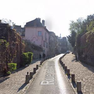 """Rue de l'Abreuvoir (""""The Good Place"""") (StreetView)"""