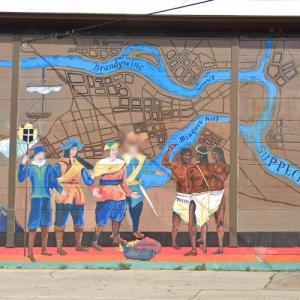 Fort Christina historic mural (StreetView)