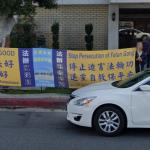 Protest against the persecution of Falun Gong