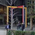 'From the main gate, the whole square' by Daniel Buren