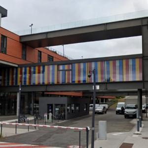 'Bayadère for 3 colors and 2 white stripes' by Daniel Buren (StreetView)