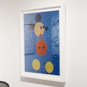 'Mickey (Blue Glitter)' by Damien Hirst (StreetView)