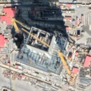 Greenland Bund Center under construction (Google Maps)