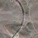 Insanely long freight train near Vegas (Google Maps)