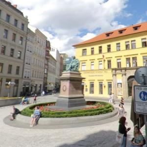 """Statue of Josef Jungmann (""""The Falcon and the Winter Soldier"""") (StreetView)"""