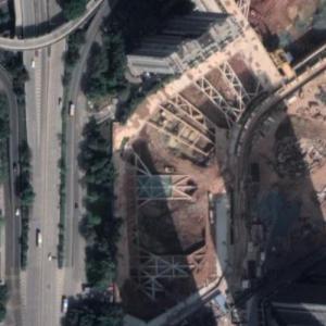 Luohu Friendship Trading Centre under construction (Google Maps)