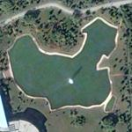 Pond shaped like China (Google Maps)