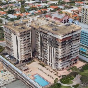 Condo Building Collapse in Miami (Google Maps)