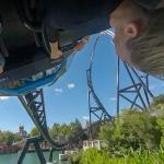 Upside down on the VelociCoaster