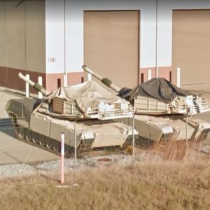 M1 Abrams battle tanks (StreetView)