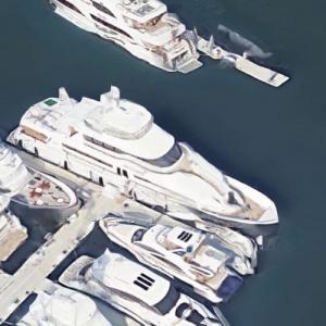 Bruce Thompson's M/Y Antares (Google Maps)