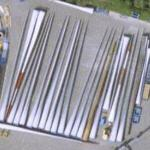 Vesta wind turbine blades (Google Maps)