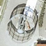 Helicopter blade test stand (Google Maps)