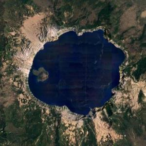 Crater Lake (Google Maps)