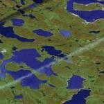 Jet contrail (Google Maps)