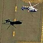 Helo in flight over Long Island MacArthur Airport (Google Maps)